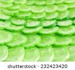 cucumber silces  background | Shutterstock . vector #232423420