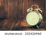 clock on wood background  ... | Shutterstock . vector #232426960