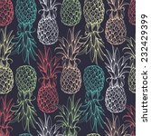pineapples seamless pattern | Shutterstock .eps vector #232429399