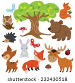 forest animal vector... | Shutterstock .eps vector #232430518