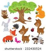 forest animal vector... | Shutterstock .eps vector #232430524