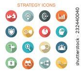 strategy long shadow icons ... | Shutterstock .eps vector #232440040