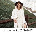 Beautiful Fashionable Woman In...