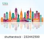 usa ckyline. vector illustration | Shutterstock .eps vector #232442500