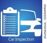 car inspection | Shutterstock .eps vector #232444903