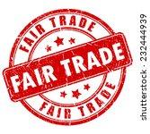 fair trade vector business stamp | Shutterstock .eps vector #232444939