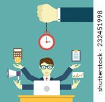 time management   pledge of... | Shutterstock .eps vector #232451998