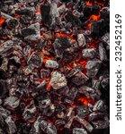 Red Warm Black Coal Background...