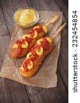 Corn Dog  Fried Sausage In...