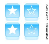 glassy star icons. vector...
