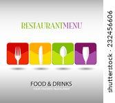 italian restaurant logo ... | Shutterstock .eps vector #232456606