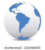 south america global world  | Shutterstock .eps vector #232460053