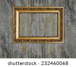 gold frame on a wooden... | Shutterstock . vector #232460068