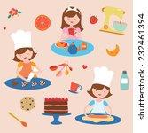 preparing sweets set | Shutterstock .eps vector #232461394