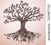large tree formed out of people ... | Shutterstock . vector #232487110