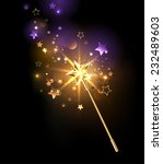 magic wand decorated with gold... | Shutterstock .eps vector #232489603