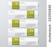 design clean number banners... | Shutterstock .eps vector #232502830