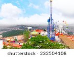 barcelona city from mountain... | Shutterstock . vector #232504108