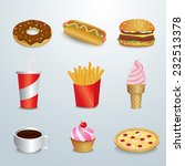 set of fast food | Shutterstock .eps vector #232513378