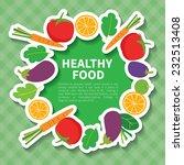 organic food   Shutterstock .eps vector #232513408