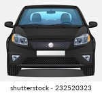 Vector Black Car   Front View   ...
