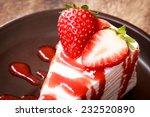 Strawberry Cake And Strawberry...