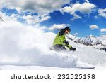 skier in high mountains during... | Shutterstock . vector #232525198