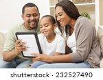 african american family ... | Shutterstock . vector #232527490
