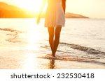 Beautiful Girl Walking On The...