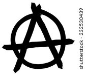 anarchy symbol isolated on... | Shutterstock .eps vector #232530439