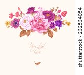 floral card. bouquet of roses ... | Shutterstock .eps vector #232534054