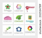 set of 9 vector elements for... | Shutterstock .eps vector #232534789