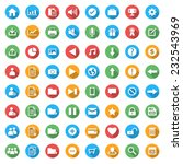 icon set for web in flat design ...   Shutterstock .eps vector #232543969