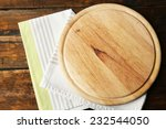 empty cutting board on wooden... | Shutterstock . vector #232544050