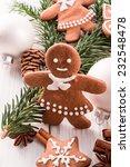 gingerbread man | Shutterstock . vector #232548478