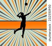 volleyball woman player vector... | Shutterstock .eps vector #232550950
