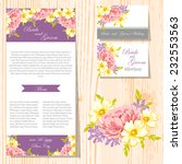 wedding invitation cards with... | Shutterstock .eps vector #232553563