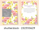 wedding invitation cards with... | Shutterstock . vector #232553629