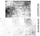 grunge textures set  vector... | Shutterstock .eps vector #232559128