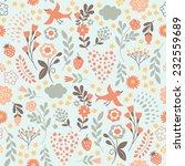 beauty seamless floral pattern | Shutterstock .eps vector #232559689