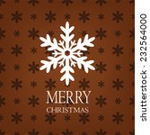 merry christmas card with...   Shutterstock .eps vector #232564000