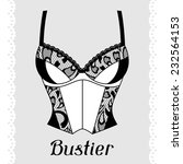 Bustier. Fashion Lingerie Card...
