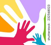 children and adults hands...   Shutterstock .eps vector #232568023