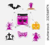 halloween sticker concept   Shutterstock . vector #232568974