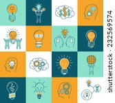 idea creative innovation... | Shutterstock .eps vector #232569574