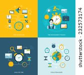 time management flat icons set... | Shutterstock .eps vector #232573174
