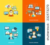 e learning flat icons set with... | Shutterstock .eps vector #232573270