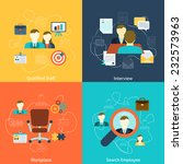 human resources man woman... | Shutterstock .eps vector #232573963