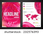 business poster or flyer with... | Shutterstock .eps vector #232576393