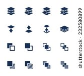 set of flat square icons with... | Shutterstock .eps vector #232580899